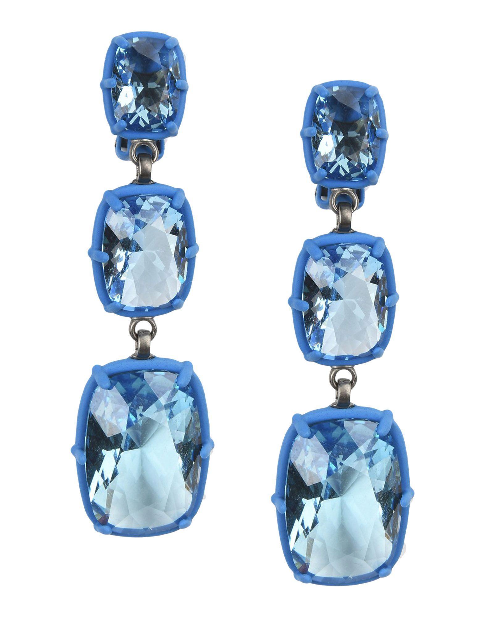 Atelier Swarovski Earrings In Azure