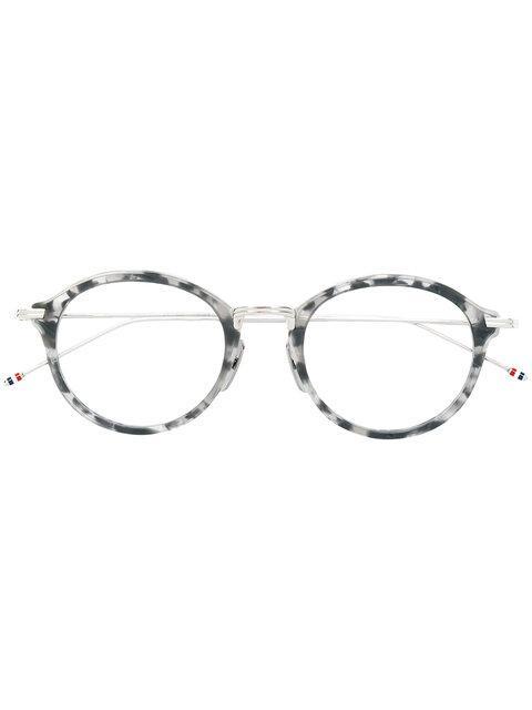Thom Browne Eyewear Tortoiseshell Effect Eye Glasses - Grey