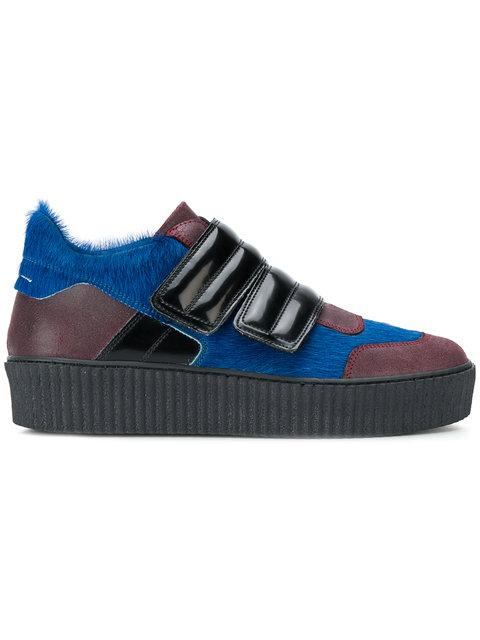 Mm6 Maison Margiela Touch Strap Platform Sneakers - Blue