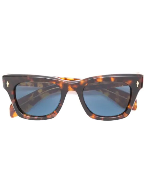 Jacques Marie Mage Delean Tortoiseshell Acetate Sunglasses In Brown