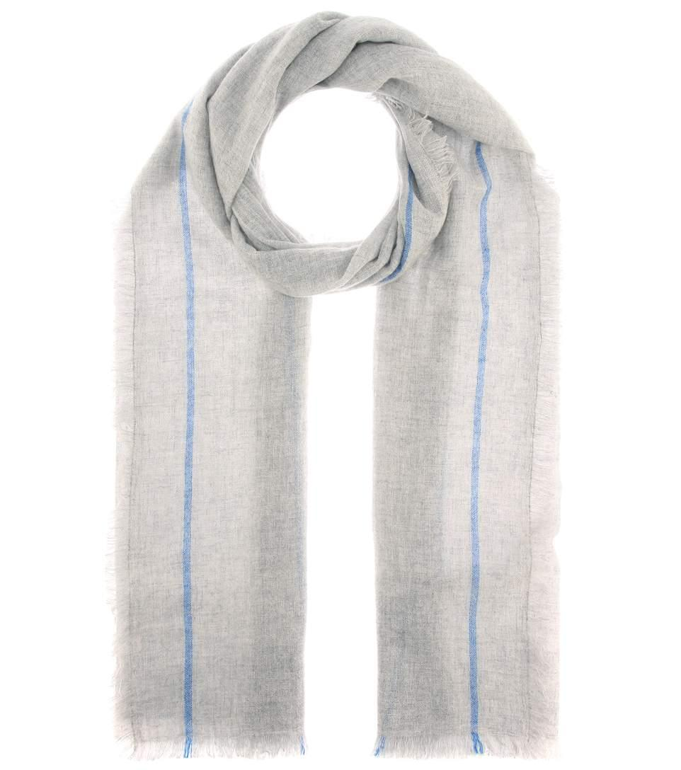 Isabel Marant Vala Cashmere Scarf In Grey