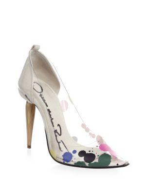 Oscar De La Renta Point-toe Pumps In Multi