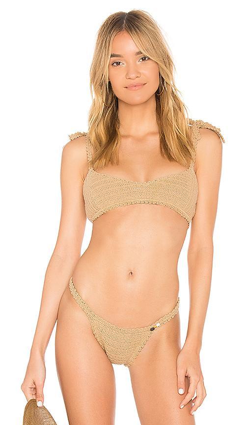 She Made Me Sita Bikini Top In Brown