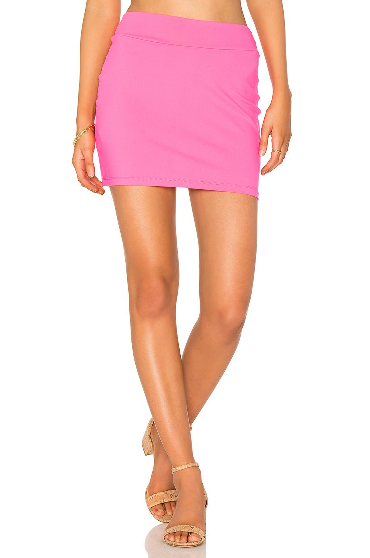 Susana Monaco Slim Skirt In Pop Pink