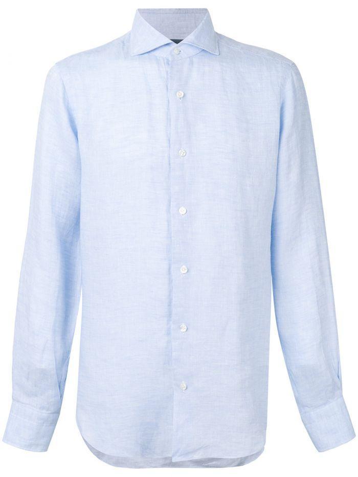 Barba Classic Shirt In Light Blue