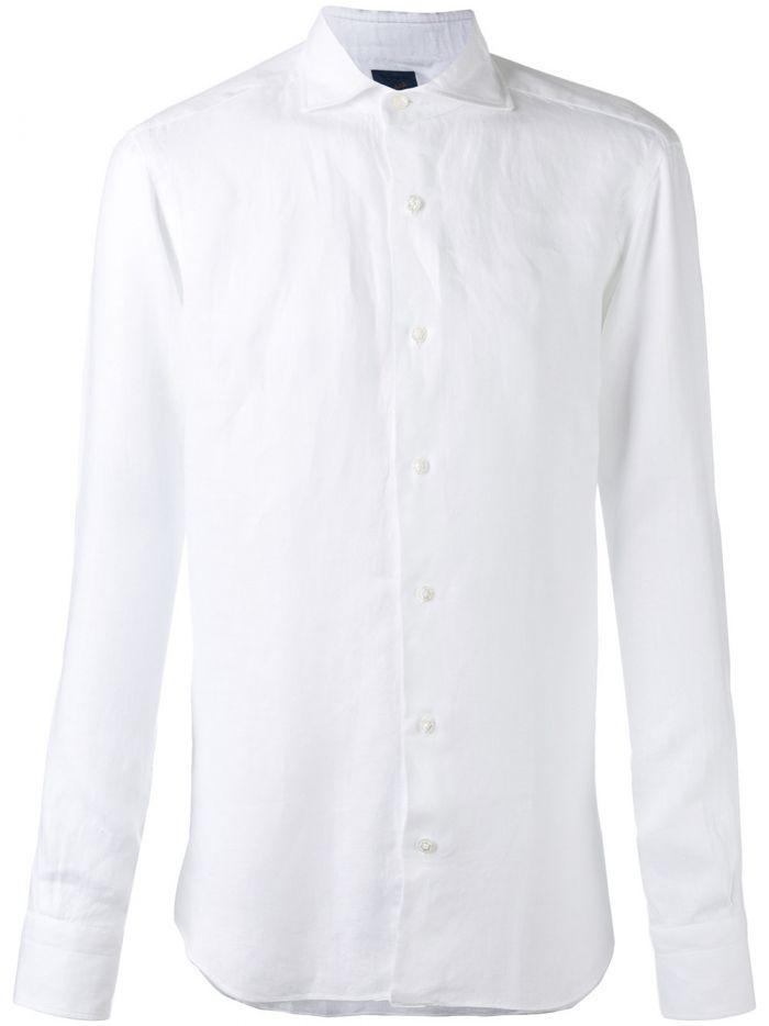 Barba Long Sleeve Shirt In White