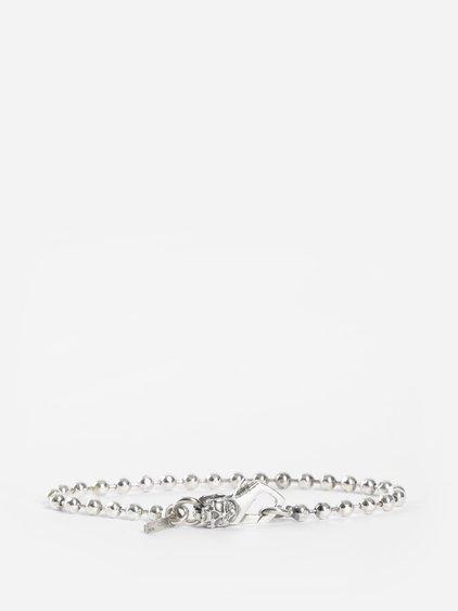 Emanuele Bicocchi Silver Ball Chain Bracelet