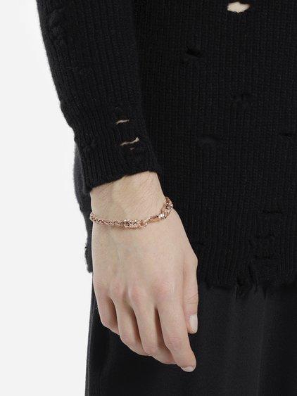 Emanuele Bicocchi Rose Gold Plated Tiny Braided Bracelet