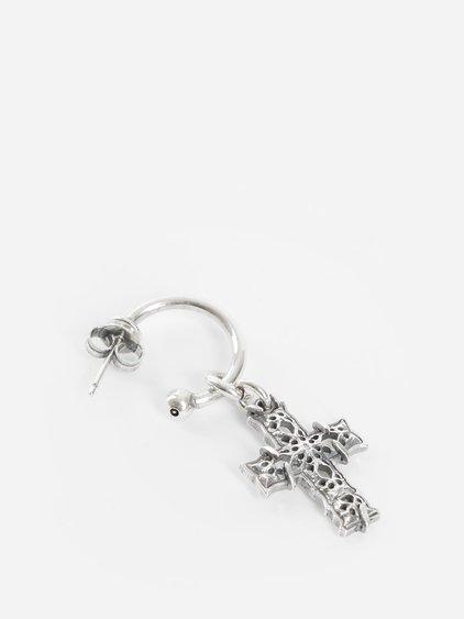 Emanuele Bicocchi Silver Cross Earring