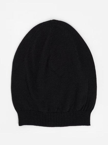 Rick Owens Black Wool Medium Hat