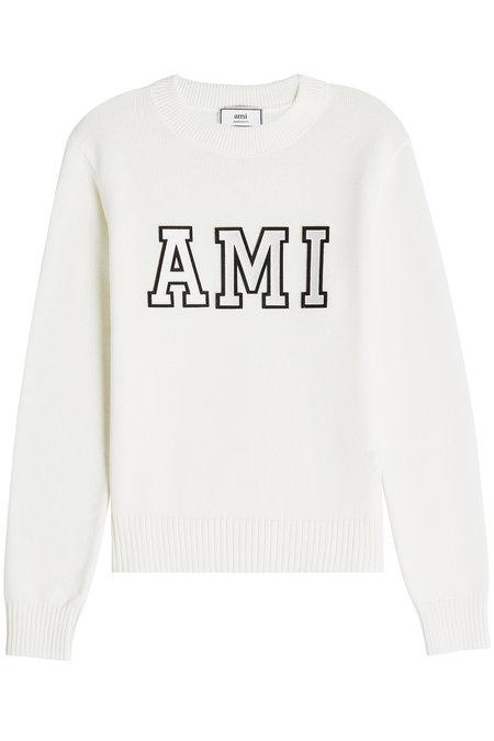 Ami Alexandre Mattiussi Cotton Pullover In White