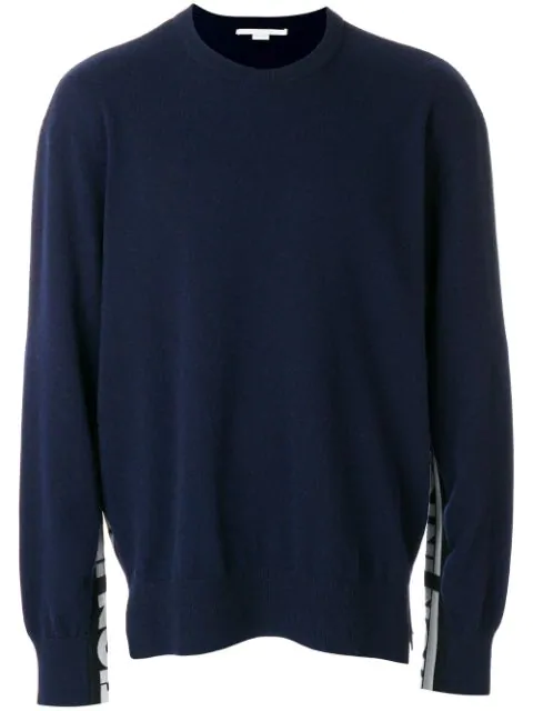 Stella Mccartney Crew Neck Intoxication Sweater In Blue