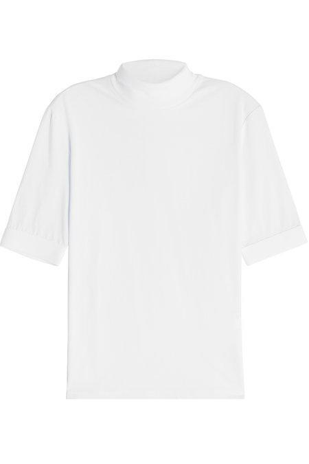 Alyx Mock Turtleneck Cotton T-shirt In White