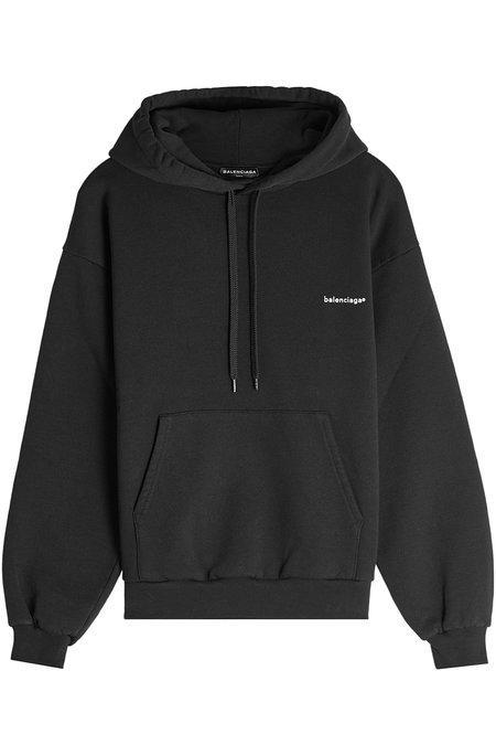 Balenciaga Copyright Logo Pullover Hoodie In Black