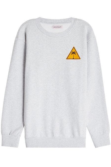 Palm Angels Palm Iconic Cotton Sweatshirt In Grey