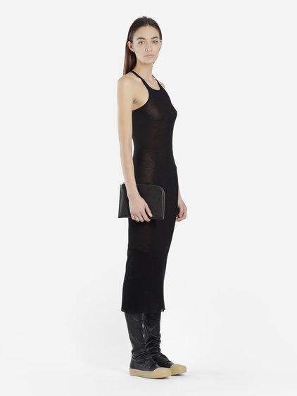 Rick Owens Women's Black Ribbed Tank Dress