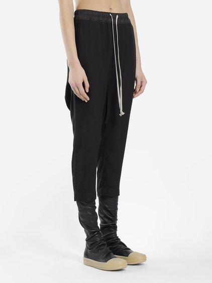 Rick Owens Women's Black Drawstring Cropped Pants