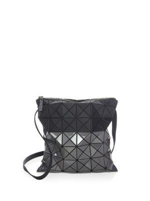 Bao Bao Issey Miyake Prism Bi-texture Crossbody Bag In Black