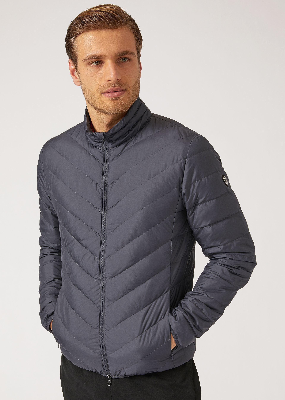Emporio Armani Down Jackets - Item 41775701 In Anthracite ; Black