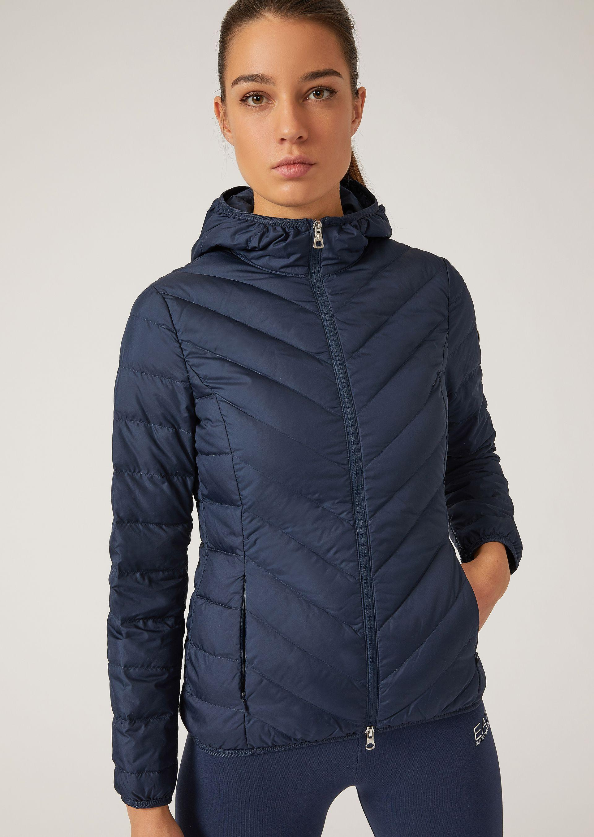 Emporio Armani Down Jackets - Item 41775857 In Navy Blue