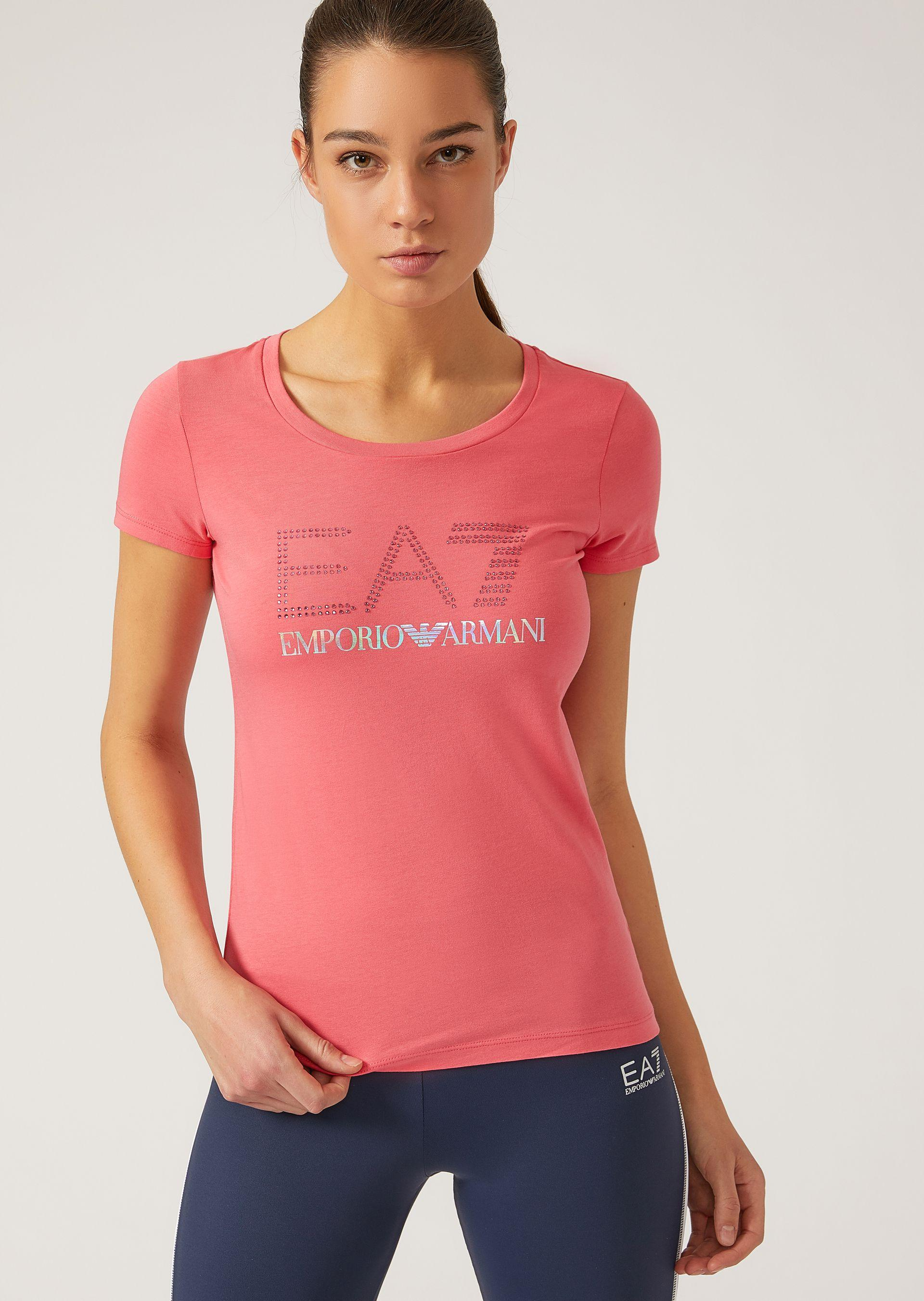 Emporio Armani T-shirts - Item 12131313 In Coral ; White ; Azure ; Black