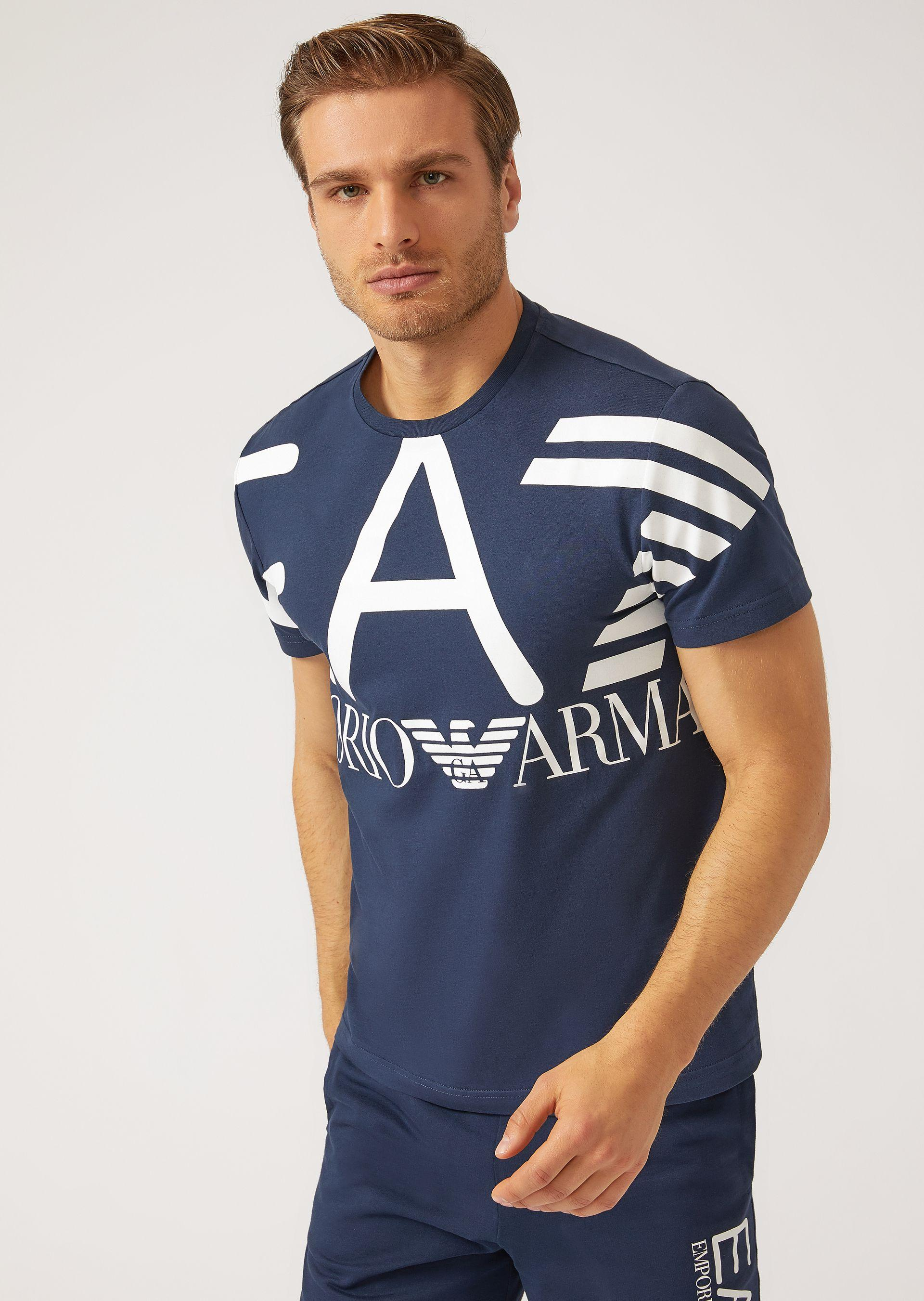 Emporio Armani T-shirts - Item 12134944 In Navy Blue ; Black ; White