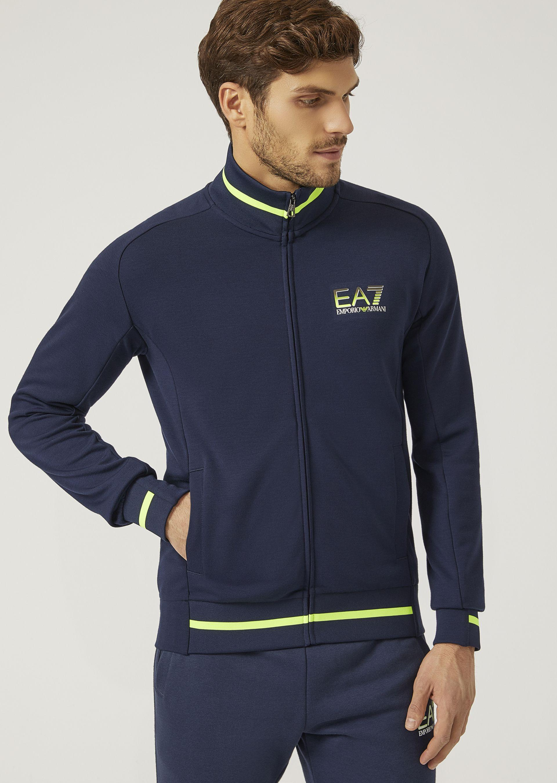 Emporio Armani Sweatshirts - Item 12139435 In Navy Blue ; Light Gray