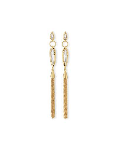 Alexis Bittar Elongated Crystal Chain Duster Earrings