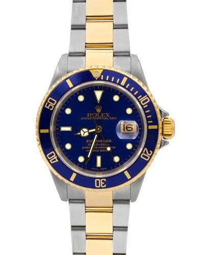 Rolex Pre-owned 40mm Submariner Two-tone Bracelet Watch