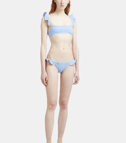 Fendi Frilled Two-piece Bikini In Blue