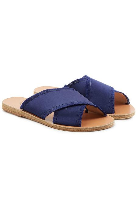 Ancient Greek Sandals Thais Satin Sandals In Blue