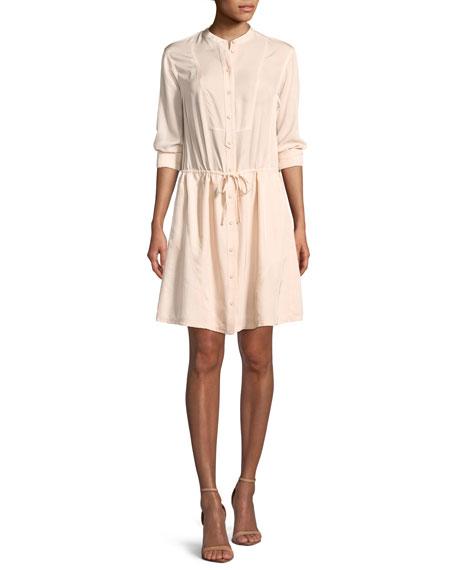 Grey Jason Wu Long-sleeve Shirt Dress In Pale Rose