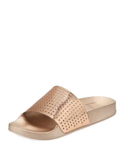 Dolce Vita Women's Hildy Leather Slide Sandals - 100% Exclusive In Copper