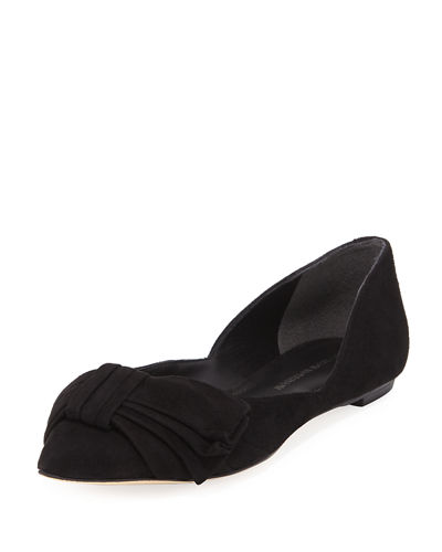 Sigerson Morrison Simona Pointy-toe Ballet Flats In Black
