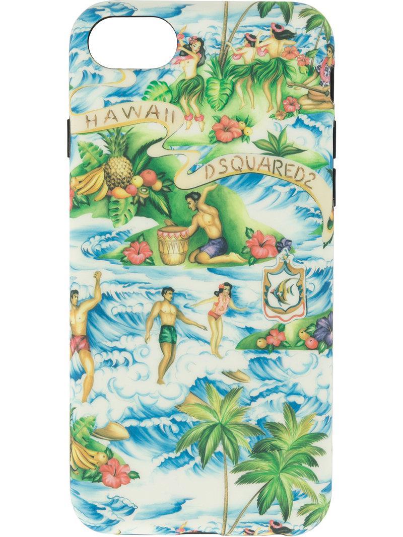 Dsquared2 Hawaiian Print Iphone 8 Case