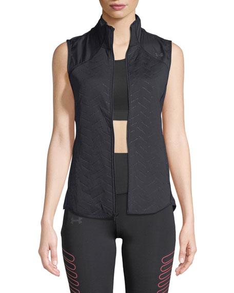 Under Armour Coldgear® Reactor Zip-front Fleece Vest In Black