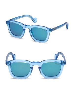Moncler 41mm Plastic Sunglasses In Blue