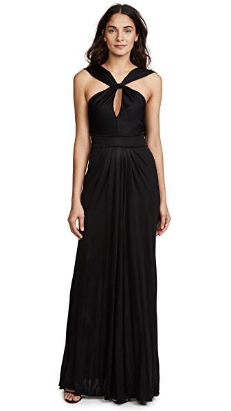 Zac Posen Wendy Gown In Black