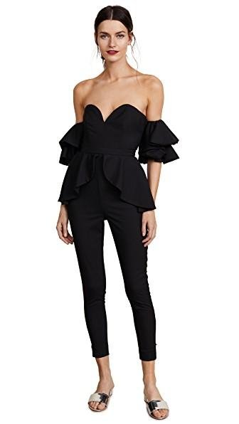 Fame And Partners The Perry Jumpsuit In Black