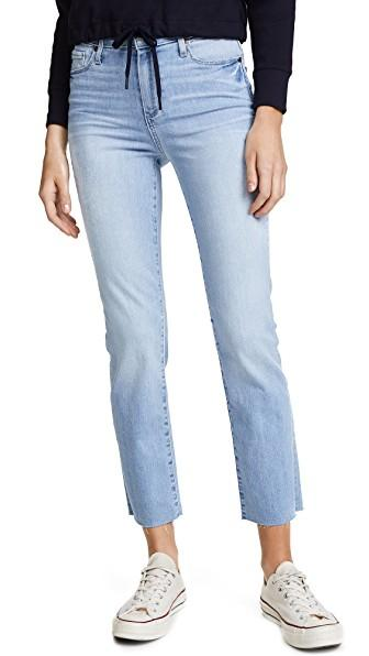 Paige Hoxton Straight Leg Jeans In Lumina