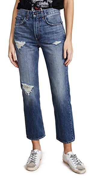 Rag & Bone Straight Jeans In Erv's