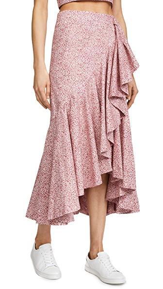 Petersyn Vanessa Skirt In Cherry Print