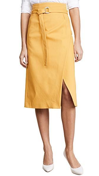 Robert Rodriguez Belted Skirt In Yellow