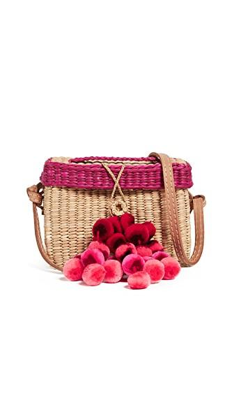 Nannacay Baby Roge Pom Pom Bag In Off White/pink