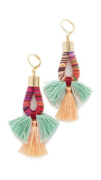 Shashi Small Pink Marlee Earrings In Pink Multi
