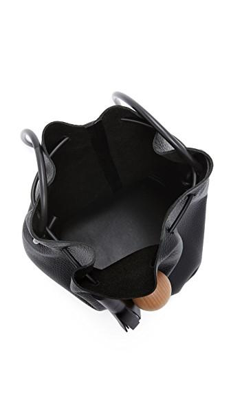 Building Block Bucket Bag In Black