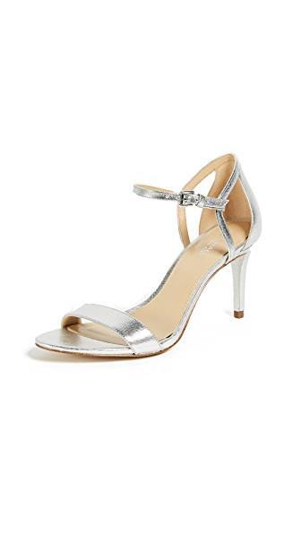 Michael Michael Kors Simone Mid Sandals In Silver