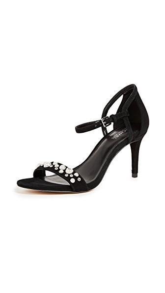 Michael Michael Kors Simone Mid Sandals In Black