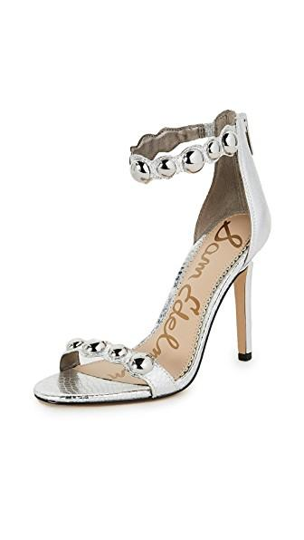 Sam Edelman Addison Sandals In Soft Silver