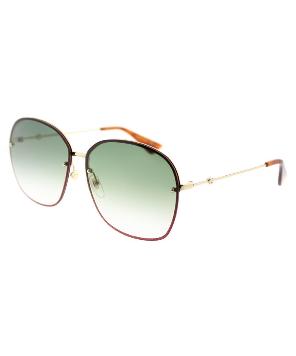Gucci Gg0228s 001 Gold Oval Sunglasses